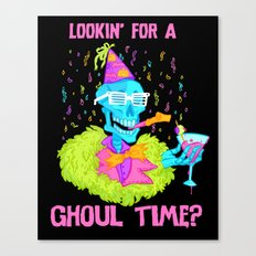 Lookin' for a ghoul time? Canvas Print
