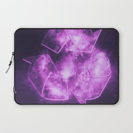 Recycle Sign. Abstract night sky background Laptop Sleeve