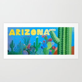 Arizona Cactus Wonderland Art Print