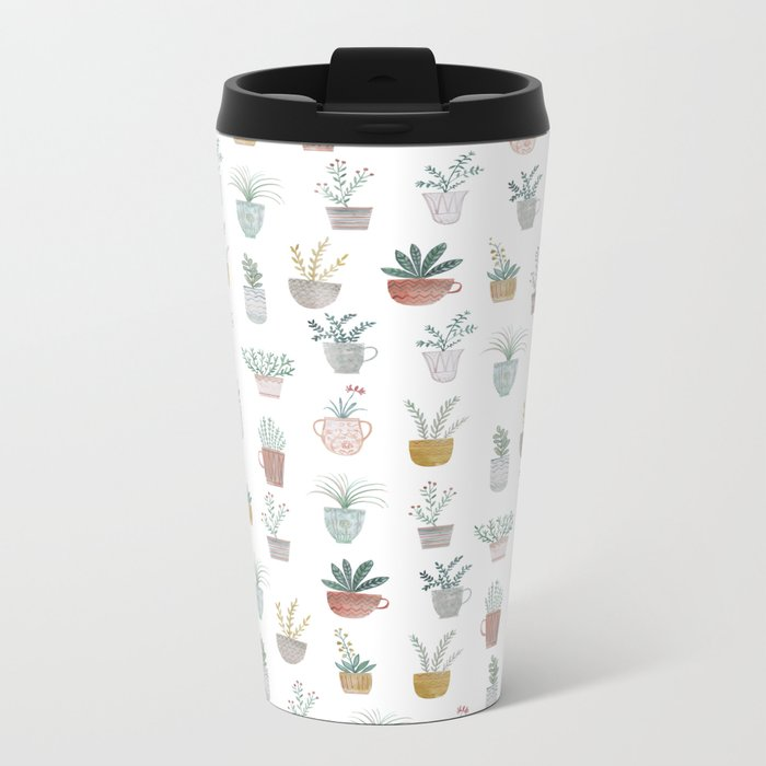 cute plants Metal Travel Mug