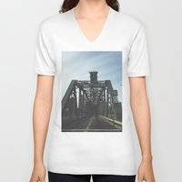 bridge V-neck T-shirts featuring BRIDGE by URBANEUTICS