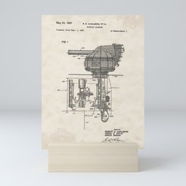 Missile Launcher Vintage Patent Hand Drawing Mini Art Print