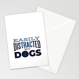 Cute Dog design With Funny Saying, Paw Print Stationery Cards
