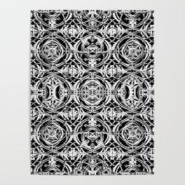 Ironwork Black and White Poster