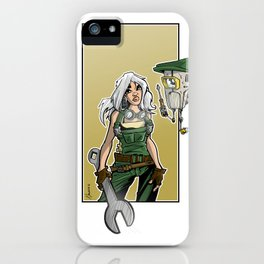mecha girl iPhone Case