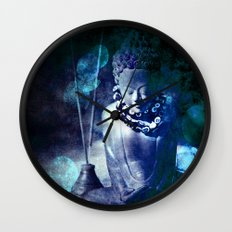 Blue Buddha Wall Clock