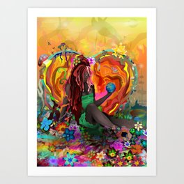 Cherish the Earth Art Print