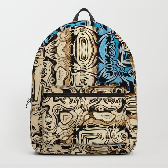 Intricate Carving Abstract Backpack