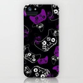 Video Game Purple on Black iPhone Case