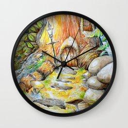 Fairy Doors Wall Clock