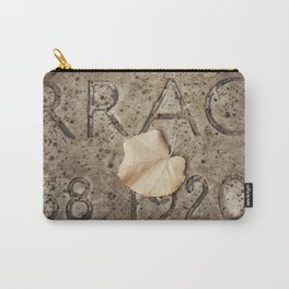 Letters and Leaf Carry-All Pouch