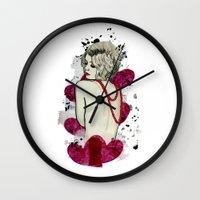 naked Wall Clocks featuring Naked by Melania B