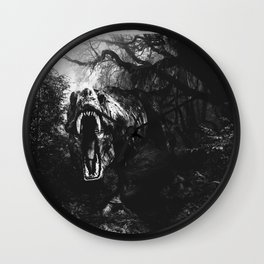 Jurassic Park Black and white Wall Clock