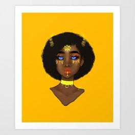 Yellow Demon Art Print