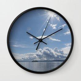 Sailing Sun Burst Wall Clock
