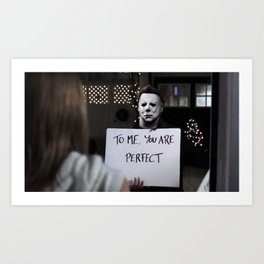Michael Myers in Love Actually Art Print