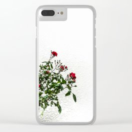 Rambling Roses Clear iPhone Case