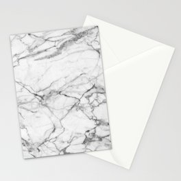 White Marble Stone Stationery Cards