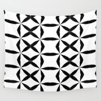 xoxo Wall Tapestries featuring XOXO by Julie Maxwell