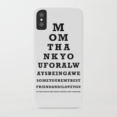 Mothers Day - Mom - Eye Test - Love you to the moon and back Slim Case iPhone X