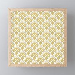 Fan Pattern Gold 201 Framed Mini Art Print