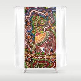 """Emu-In-The-Sky"" Shower Curtain"