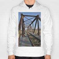 bridge Hoodies featuring Bridge by Falko Follert Art-FF77