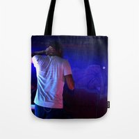 childish gambino Tote Bags featuring Childish Gambino by Ashley Overton