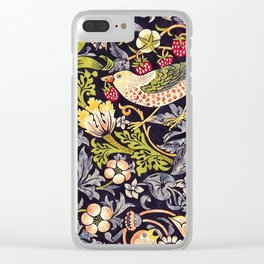 William Morris Strawberry Thief Art Nouveau Painting Clear iPhone Case