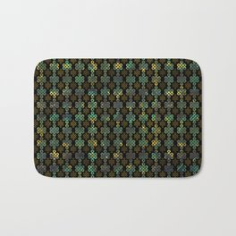 Endless Knot Pattern - Gold and Marble Bath Mat