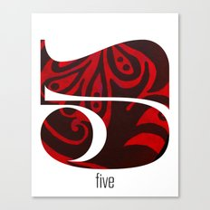 Number Five Canvas Print