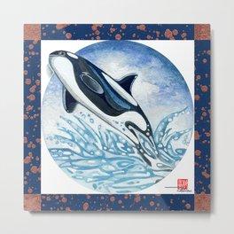 DW-015 Killer Whale Metal Print