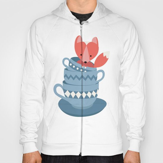 fox in a cup Hoody