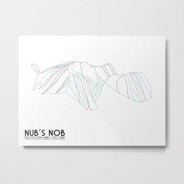 Nub's Nob, MI - Minimalist Trail Art Metal Print