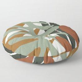 Abstract Plant Life III Floor Pillow