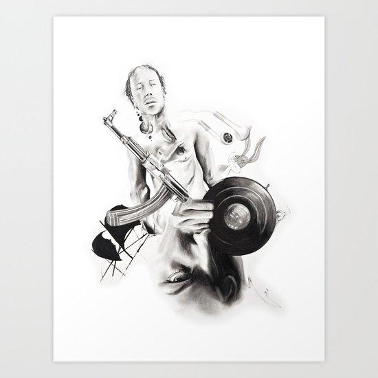 "P.O.A.M (Portrait of a Memory) ""D"" Art Print"