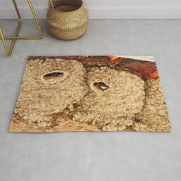 Nesting Cliff Swallow Rug