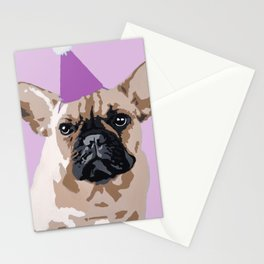Milo pink on pink Stationery Cards