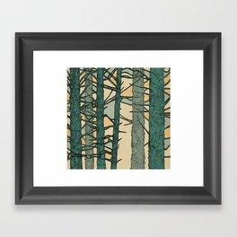 Green Trees Framed Art Print