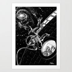 Space Walk Illustration based on Story 'Breezes of Heaven' Art Print
