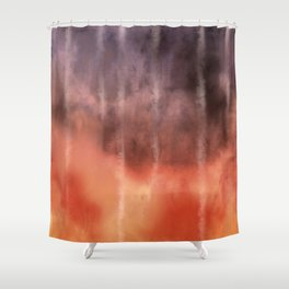 Fire Under the Mountain Shower Curtain