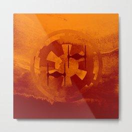 Galactic Empire Imperial Cog Orange Tie Fighters Metal Print