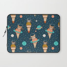 Cats Floating on Ice Cream in Space Laptop Sleeve