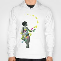 erotic Hoodies featuring She's a Whirlwind by Cassia Beck