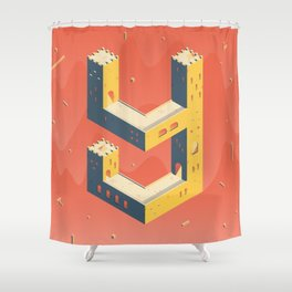 castle in the 'Y' Shower Curtain