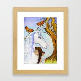 Everyone needs a unicorn Framed Art Print