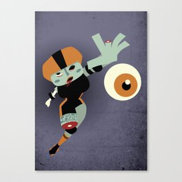 Roller Zombies - Eye Catching Canvas Print