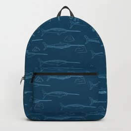 Arctic Iceberg Narwhal pattern Backpack