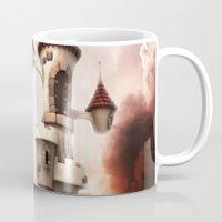 castle in the sky Mugs featuring Castle in the Sky by Heidy Curbelo