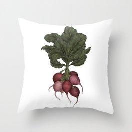Radishes Throw Pillow